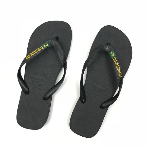 5dbe2b73e0e3 Havaianas Other - Havaianas black flip flops with Brazil Flag Sz 41